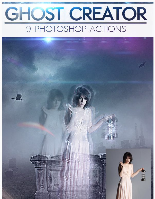 Ghost Creepy Photo Effects Photoshop Actions