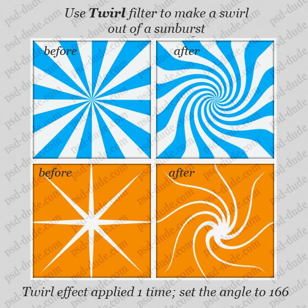 twirl and swirl technique